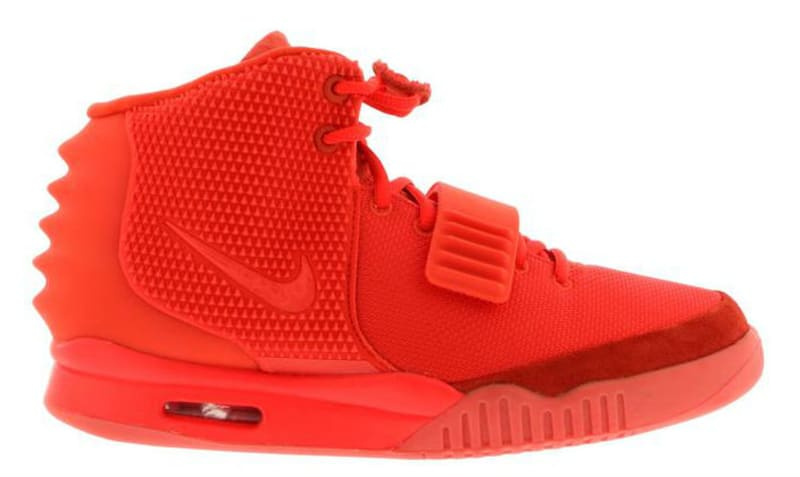 A Pair Of Nike Air Yeezy 2s Are For Sale At Walmart