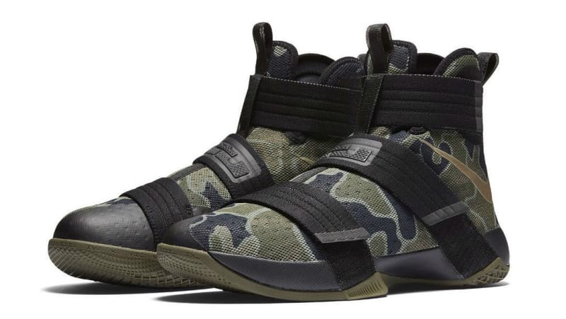 New Nike LeBron Soldier 10 SFG Camo Size 13