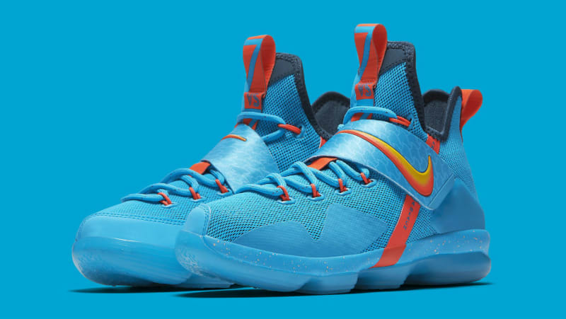 bfe1c6bca41 ... Ocean blue Nike LeBron 14 colorway.