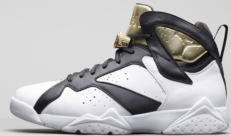 womens air jordan retro 7 gold grey