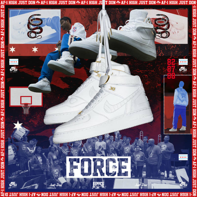 off white nike air force one poster snkrs
