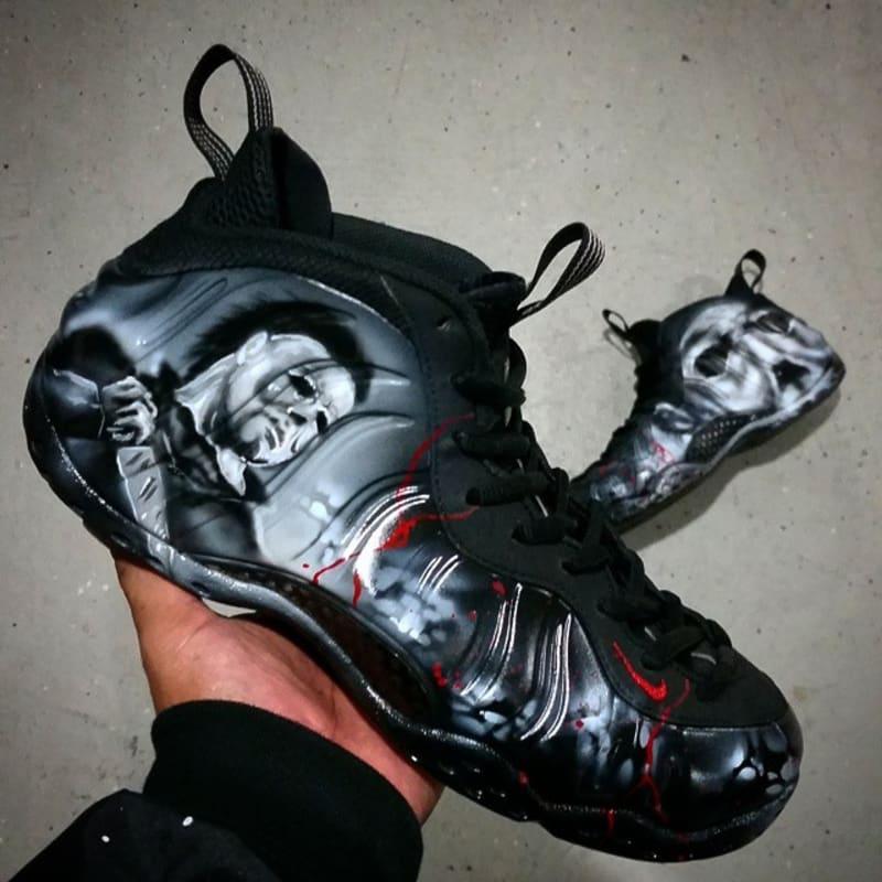 e6cd9f1f7a09c7 Michael Myers by Dez Customz Nike Foamposite ...