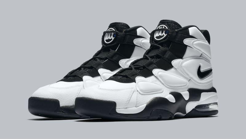 2017 Nike Air Max 2 Uptempo Basketball Shoes White Black