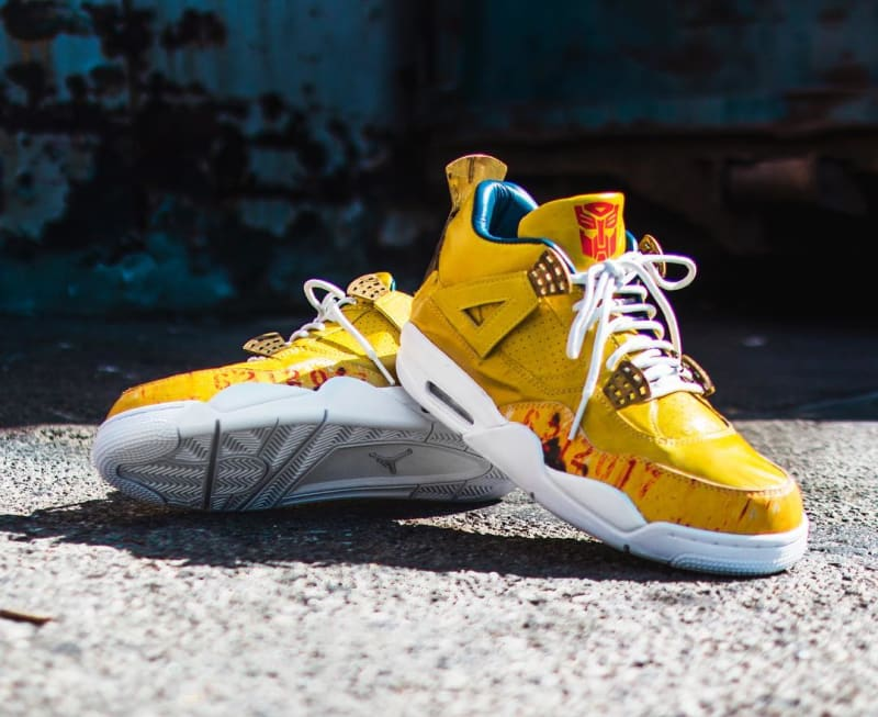 Custom Transformers Air Jordans Made For Mark Wahlberg