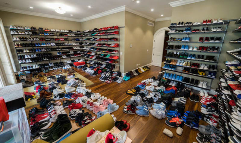 This Man Has A Lot Of Sneakers