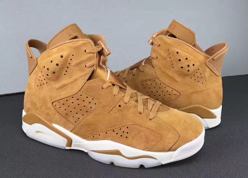 NEW DS Awesome 2017 Brand Air For Jordan Retro 6 VI Wheat Golden Harvest/Sail 384664-705