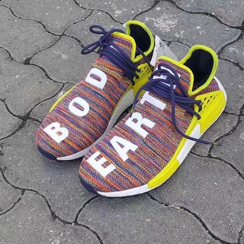 Adidas Pharrell NMD Human Race Blue Adidas casual shoes