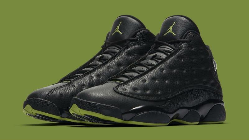 Air Jordan 13 (XIII) Retro - Black / Altitude Greenpurple jordansmichael jordan sneakers on saleofficial shop