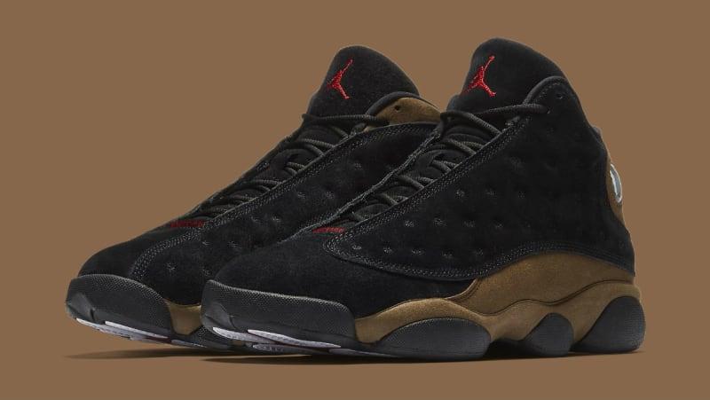 Mens Air Jordan 13 Current Series Black Brown Yellow shoes