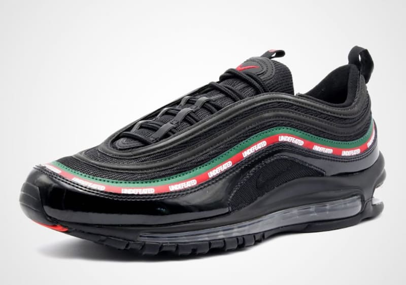 Undefeated x Nike Air Max 97  UNDFTD  - BLACK RED WHITE GREEN  AJ1986-001  Sz 10