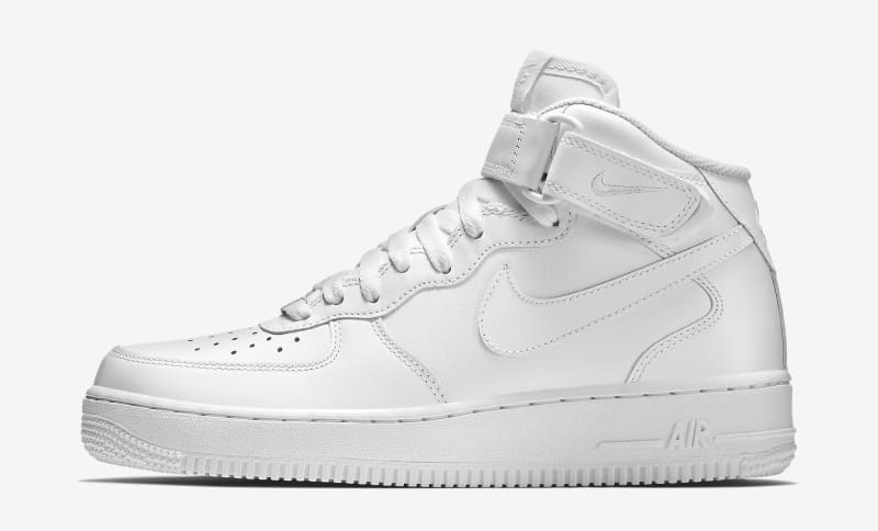 nike air force 1 white mid#0790316