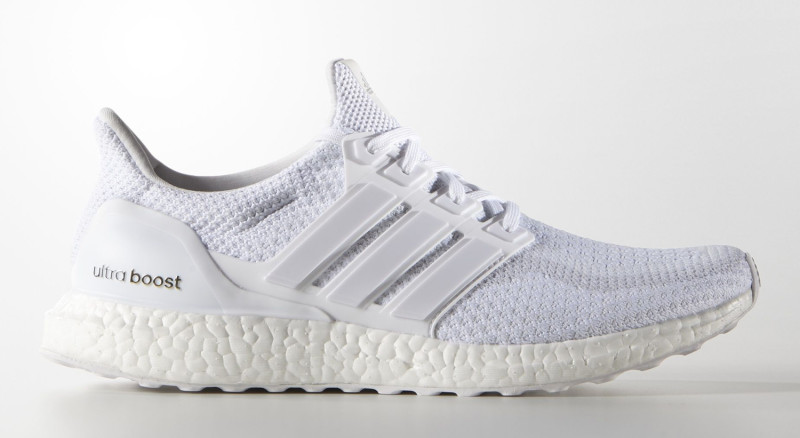 Adidas Ultra Boost Triple White Bottom