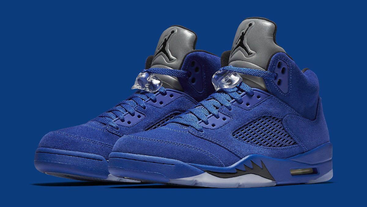 best sneakers bdd74 0943b Air Jordan 5 Royal Blue Suede Flight Suit Release Date ...