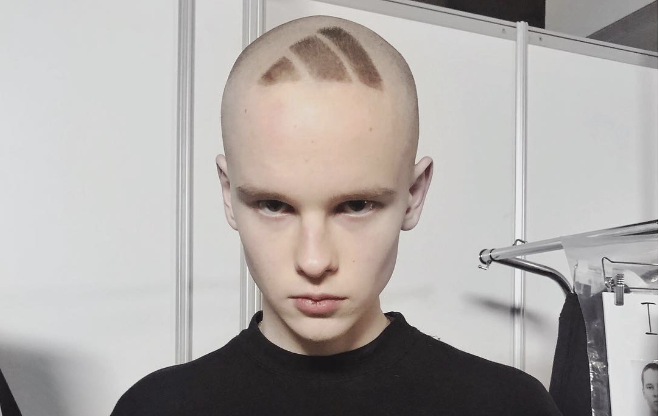 This model shaved the adidas logo into his head sole collector buycottarizona Image collections