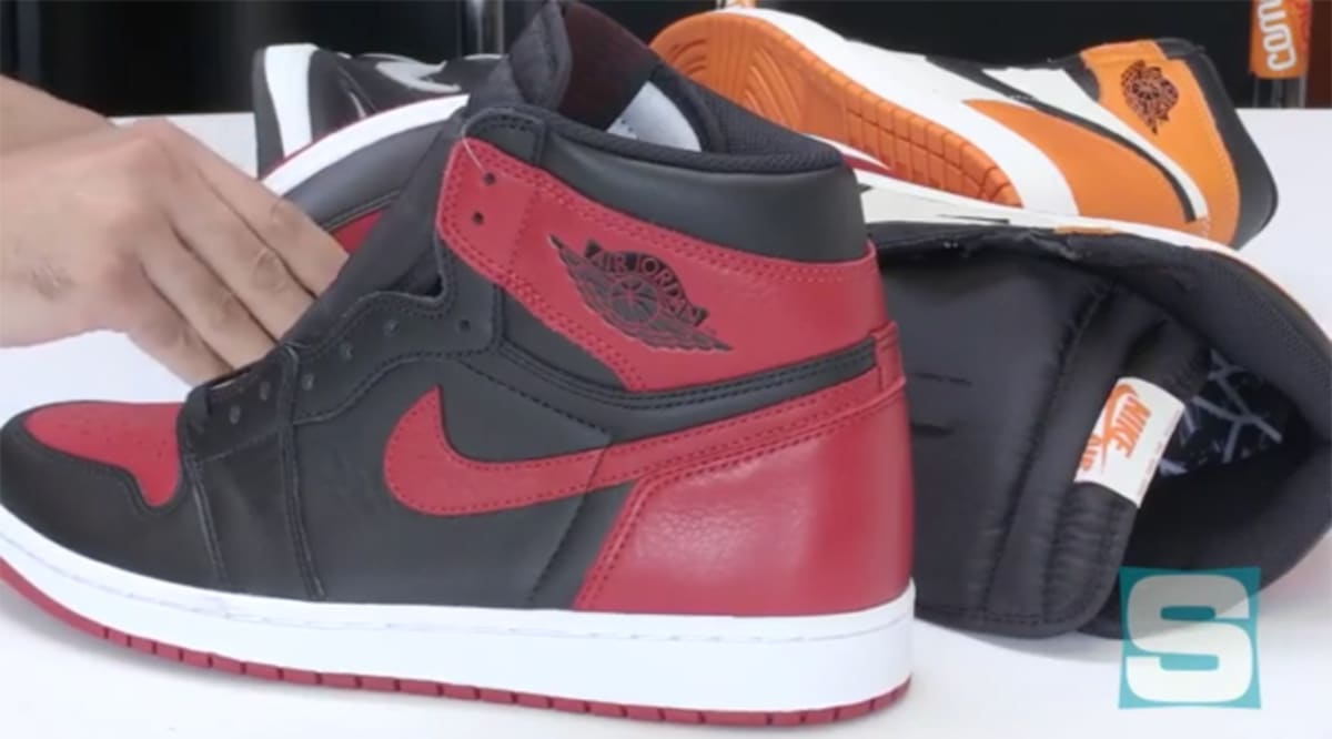 brand new d6168 d6720 Air Jordan 1 Banned Unboxing   Sole Collector