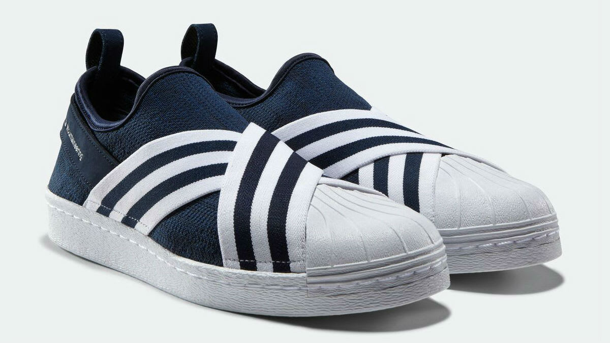 white mountaineering x adidas superstar slip on release. Black Bedroom Furniture Sets. Home Design Ideas