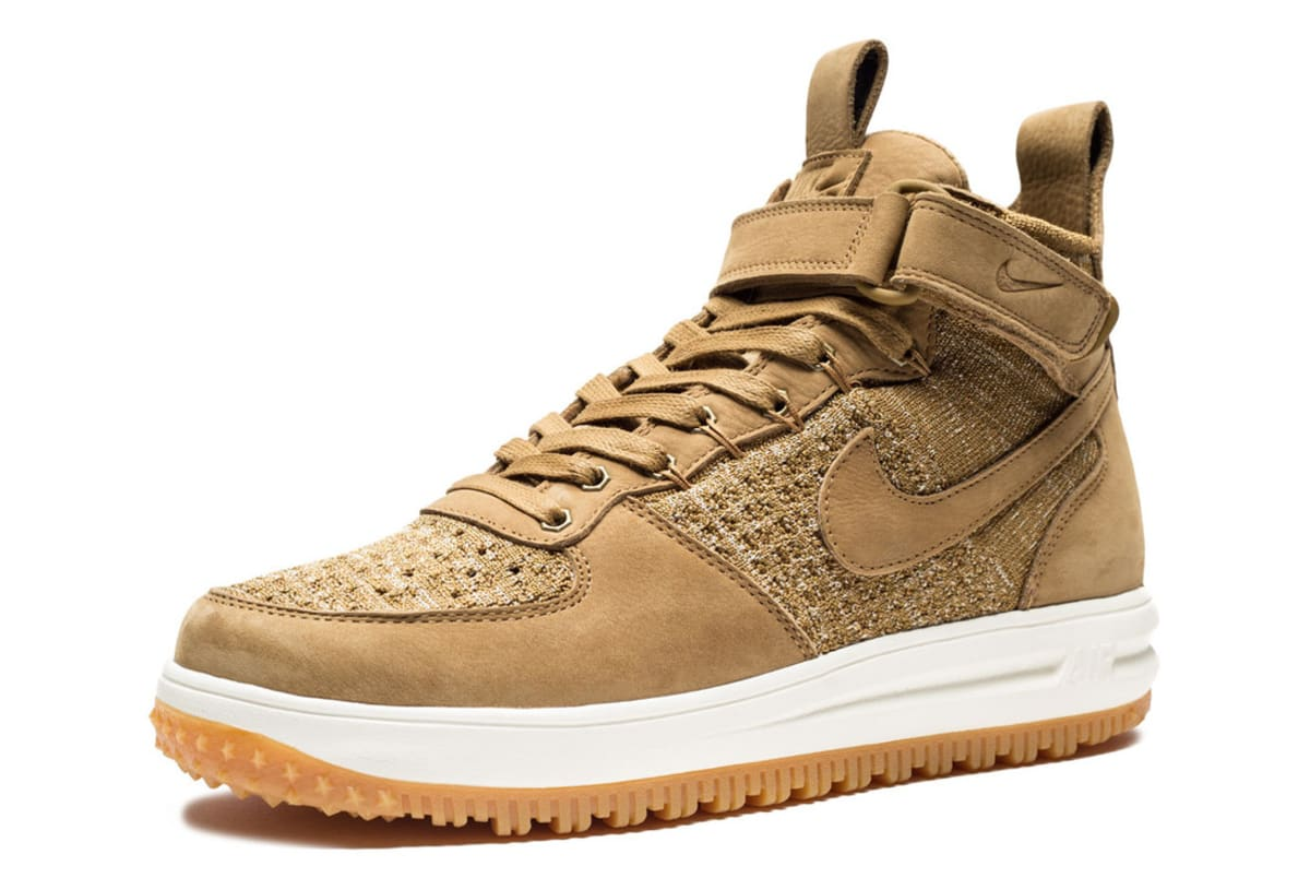 Wheat Nike Lunar Force 1 Flyknit Boot Sole Collector