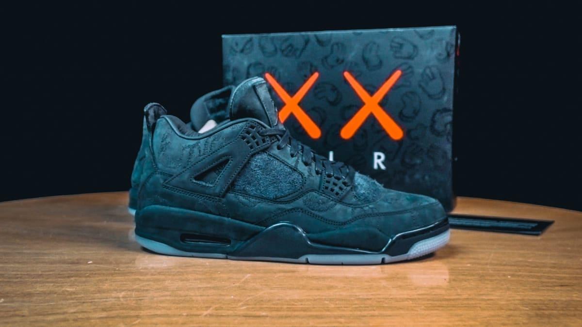 e59457217aca98 How to Purchase the  Black  Kaws x Air Jordan 4 930155-001