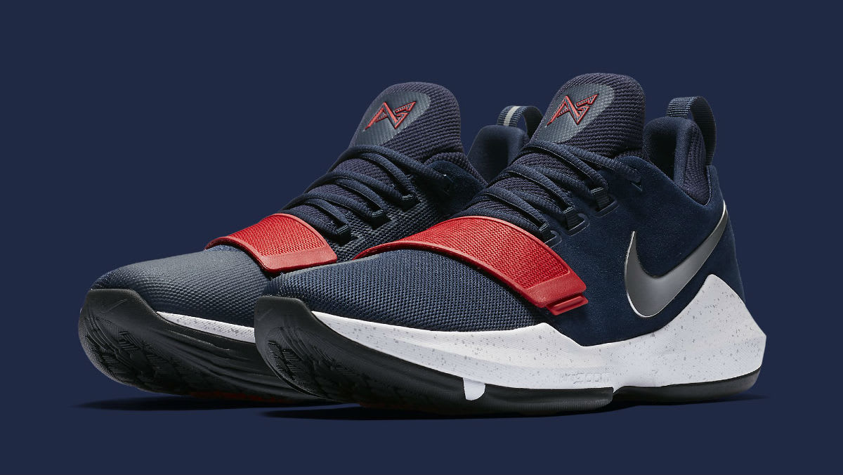 Nike Pg1 1 Navy Red White Silver Release Date Main Sole