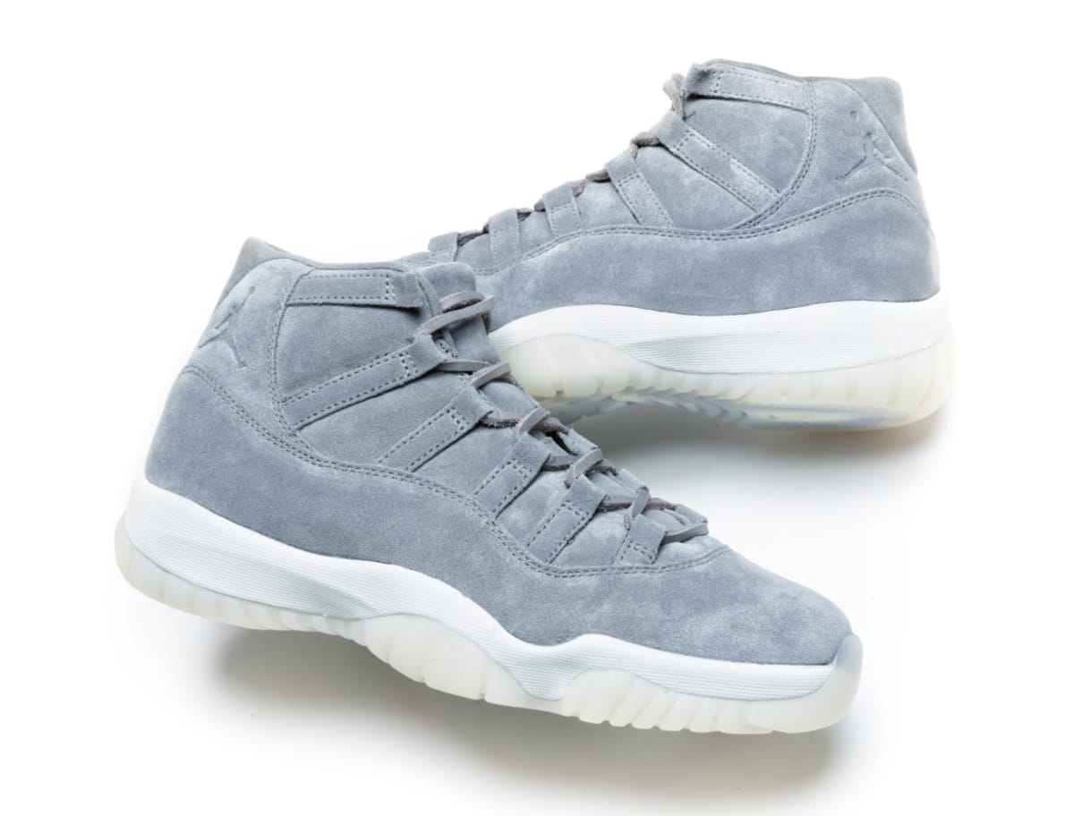 85f655b24d8 Grey Suede Air Jordan 11 Pinnacle Early Release   Sole Collector