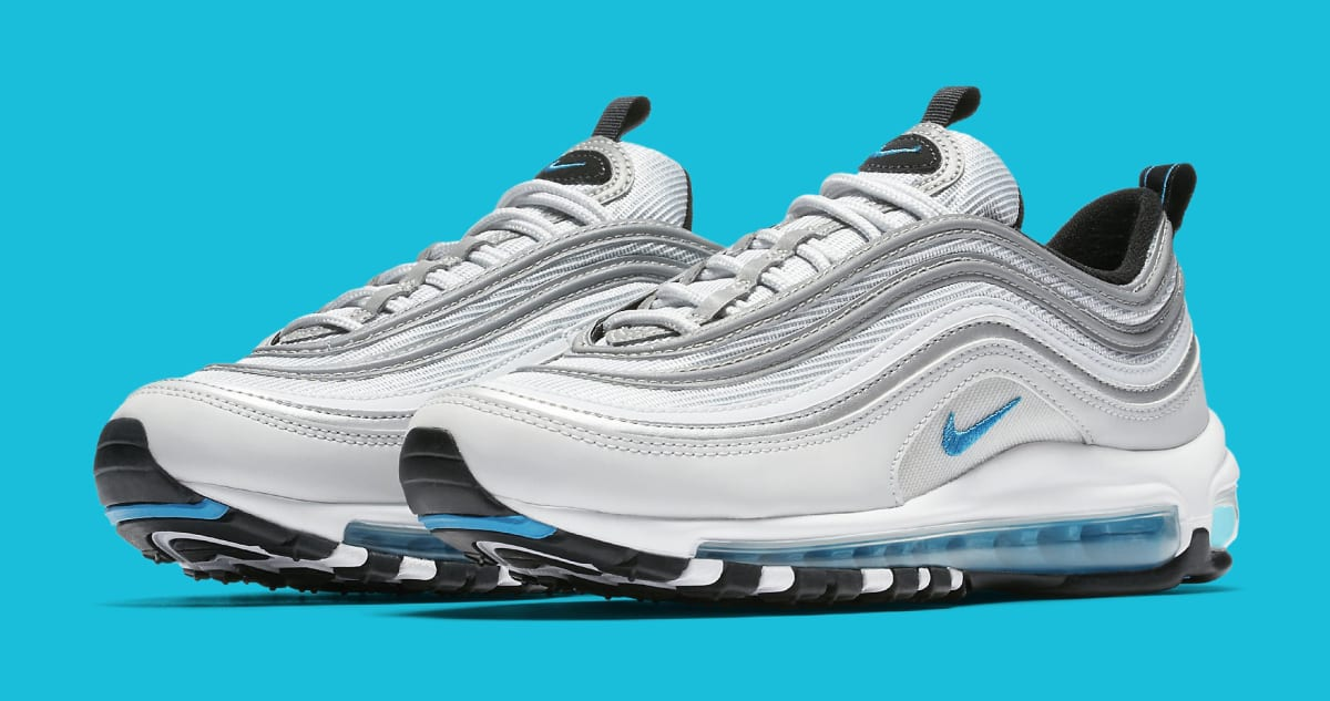 Womens Nike Air Max 97 Silver Blue 917647 001 Sole Collector