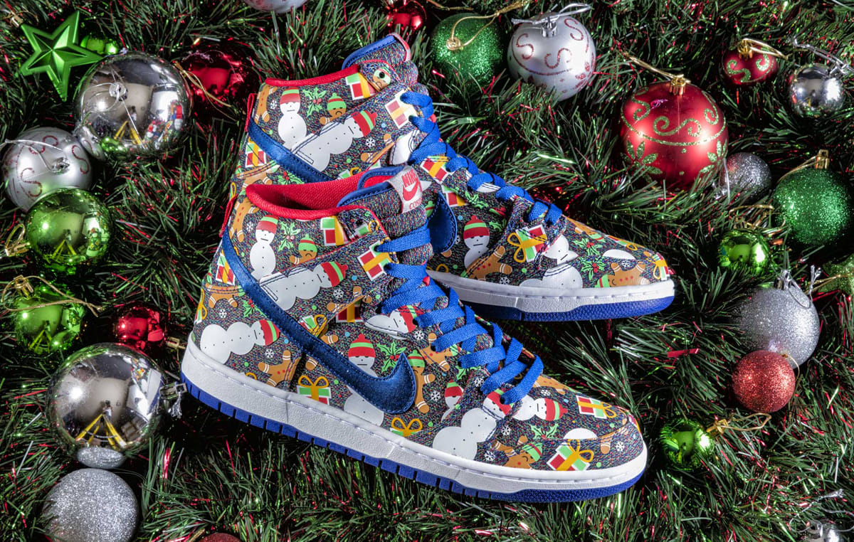 Concepts Nike SB Dunk High Ugly Christmas Sweater 2017   Sole Collector
