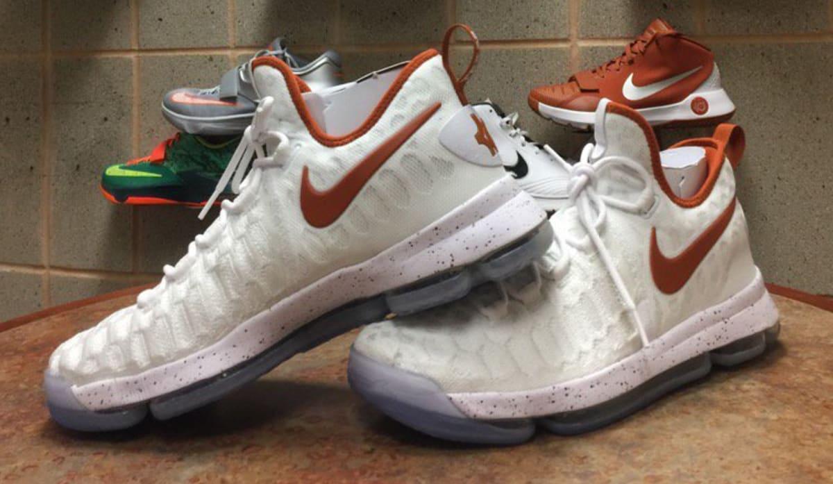 the best attitude e9c4a 9e255 ... PE via Packer Shoes Nike KD 9 Texas Longhorns   Sole Collector ...