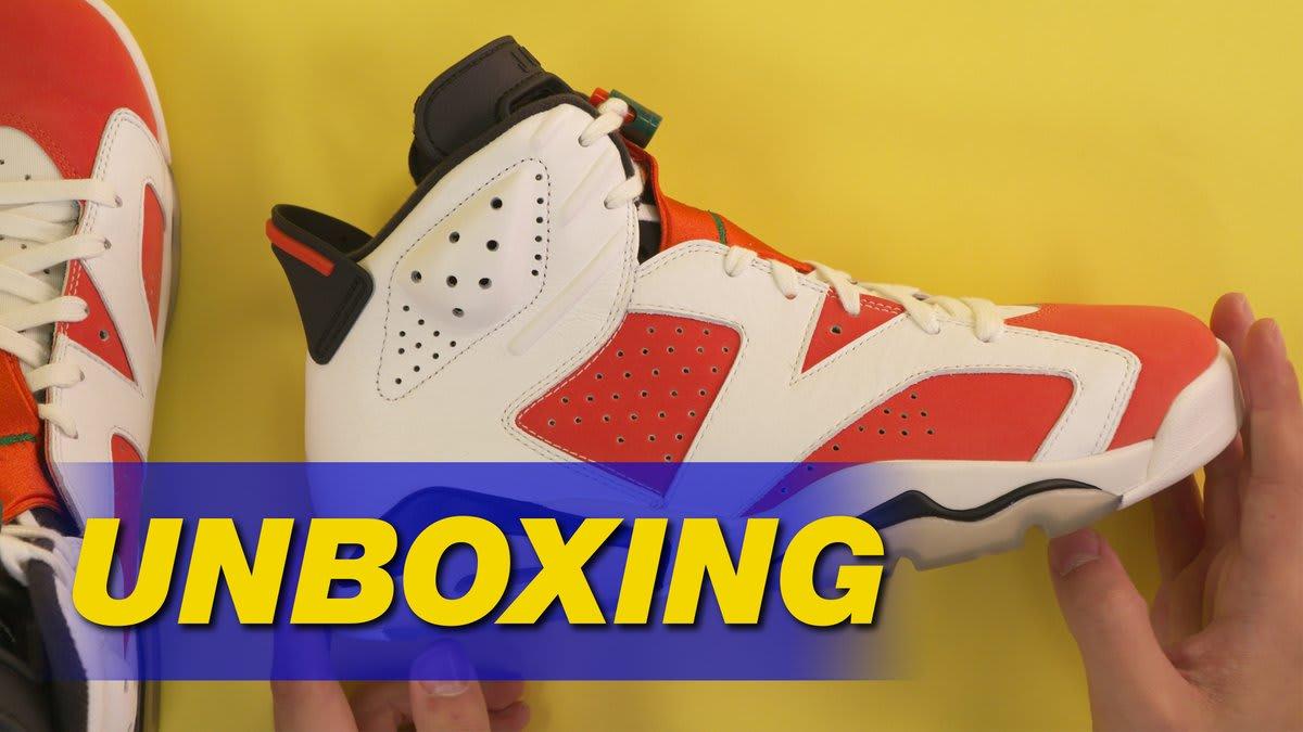 28ca8a549a0e5c Air Jordan 6 Gatorade Like Mike Unboxing