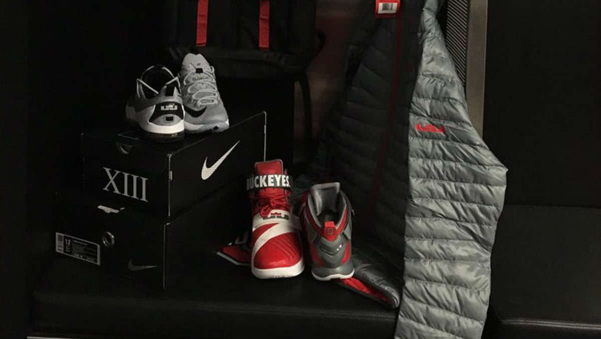 low priced 051cb 0143b Ohio State Responds to Michigans Jordan Deal with New Nike LeBron Gear   Sole Collector
