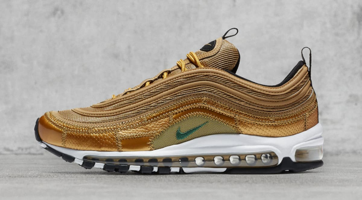 low priced e2417 a2572 ... spain gold nike air max 97 cristiano ronaldo patch aq0655 700 sole  collector 6f840 69214
