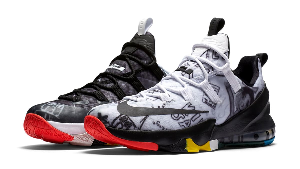 409837279222 ... authentic nike lebron 13 low qs limited lebron james family foundation  graffiti 849783 999 sole collector