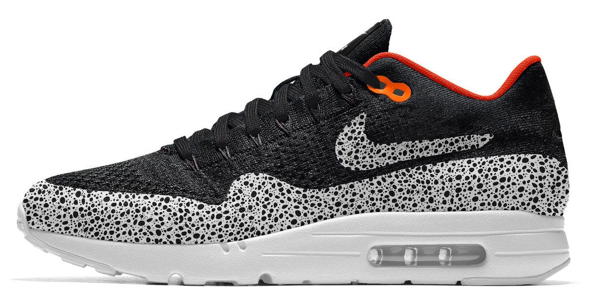 Nike iD Air Max 1 Ultra Flyknit Safari Cheetah Options