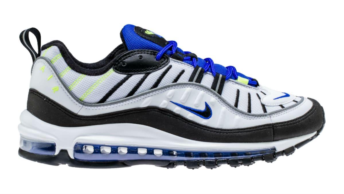 Nike Air Max 98 White Black Racer Blue Volt Release Date