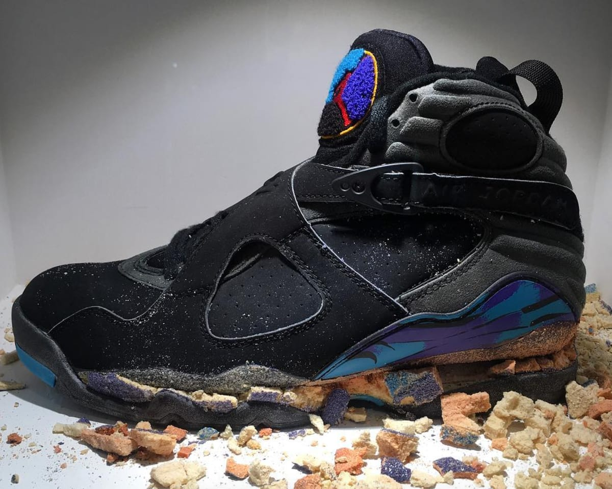 b802a9664b8 Original Air Jordan 8 Aqua Crumbled | Sole Collector