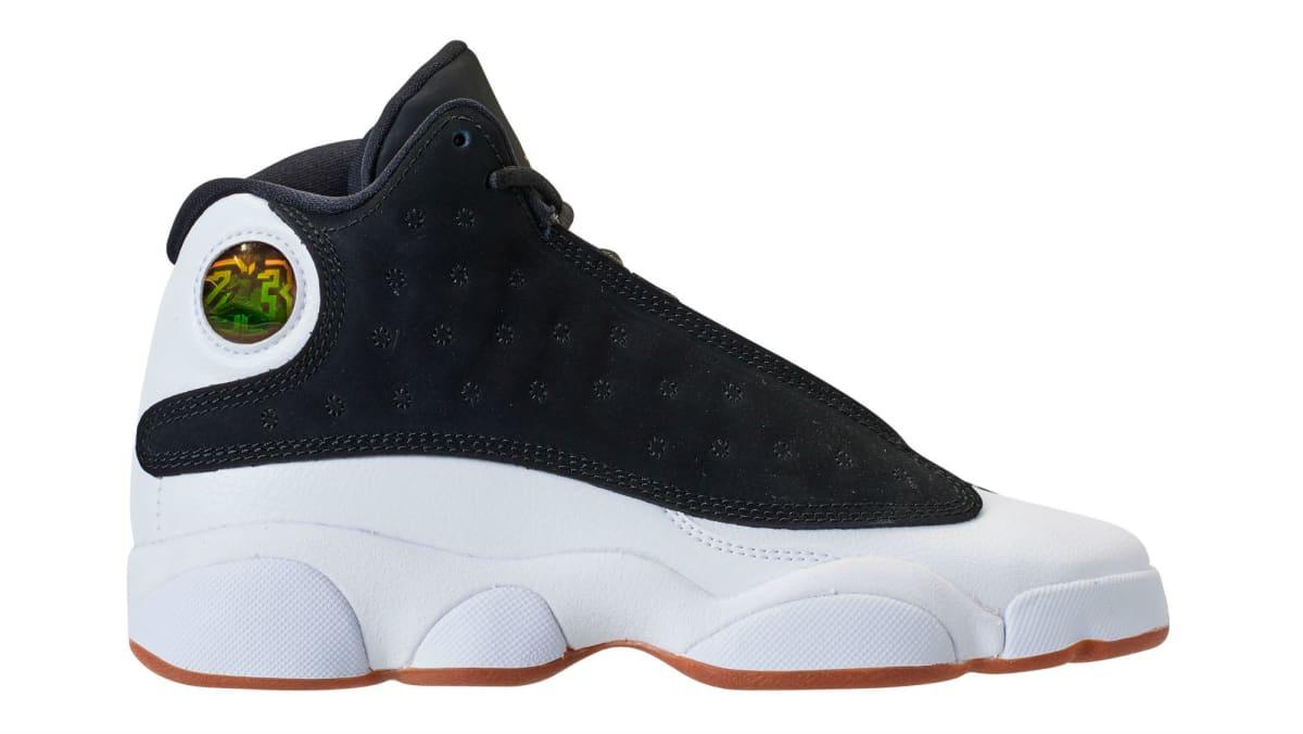 Air Jordan 13 Girls Black Gold White Gum Release Date 439358 021