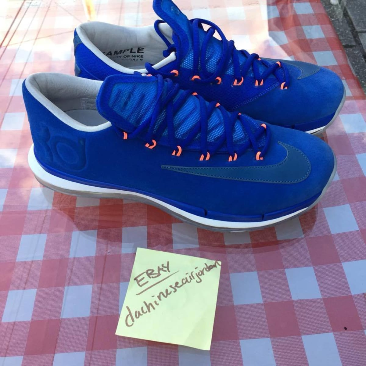 half off c430a 9ac53 Nike KD 6 Elite Premium  Fragment  Sample - 20 Nike Samples Ebay   Sole  Collector