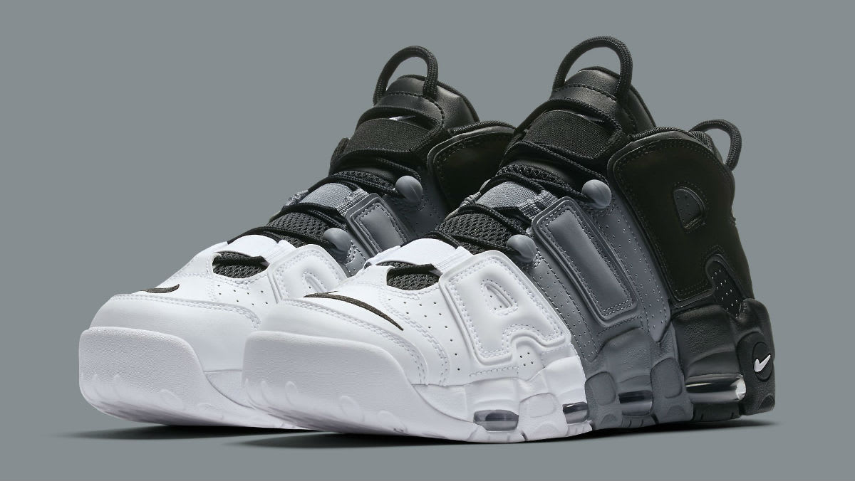 Nike Air More Uptempo Tri-Color Black Grey White Release Date 921948 002   Sole Collector