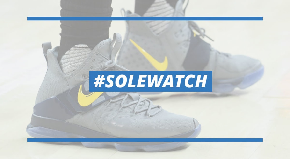 LeBron James Nike LeBron 14 Grey Yellow Batman PE  2190095f0