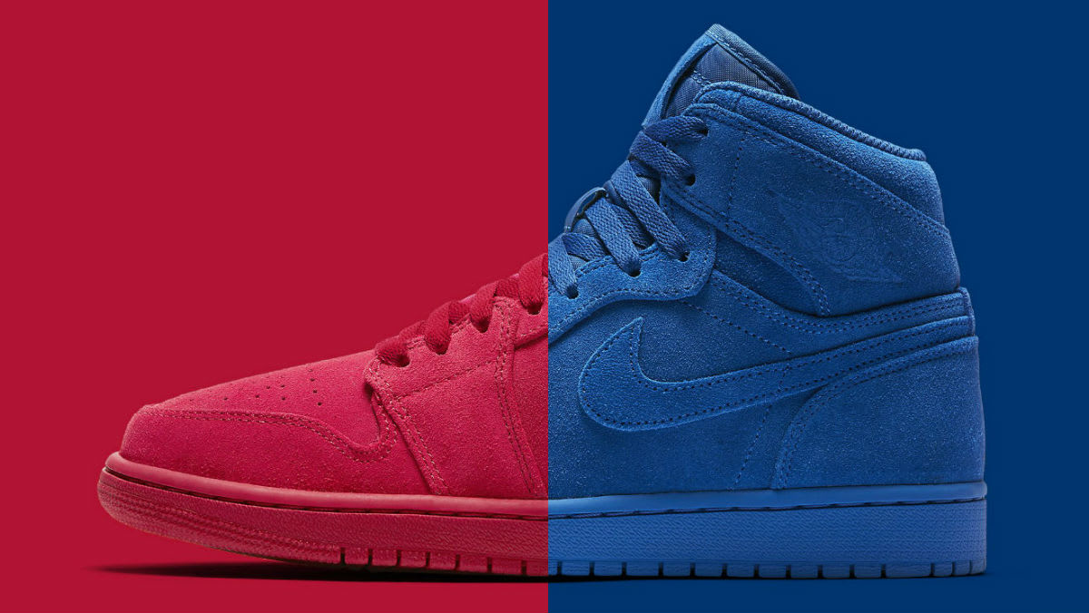 discount code for air jordan idem red one yessss ae63f 63db2  italy air  jordan red blue suede release date 332550 603 332550 404 sole collector  e9616 596ce bbfca21b0