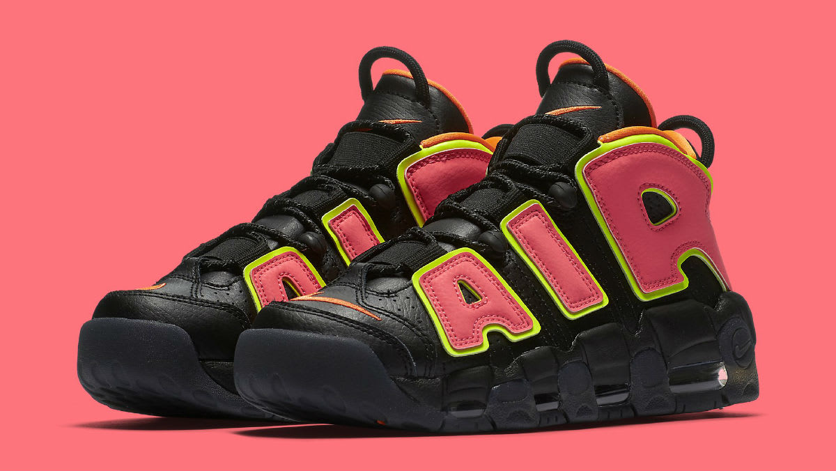 ... shoes black white 81941 984ef  closeout nike womens air more uptempo  hot punch release date 917593 002 sole collector 5b962 5f85f 1e11d6d5e