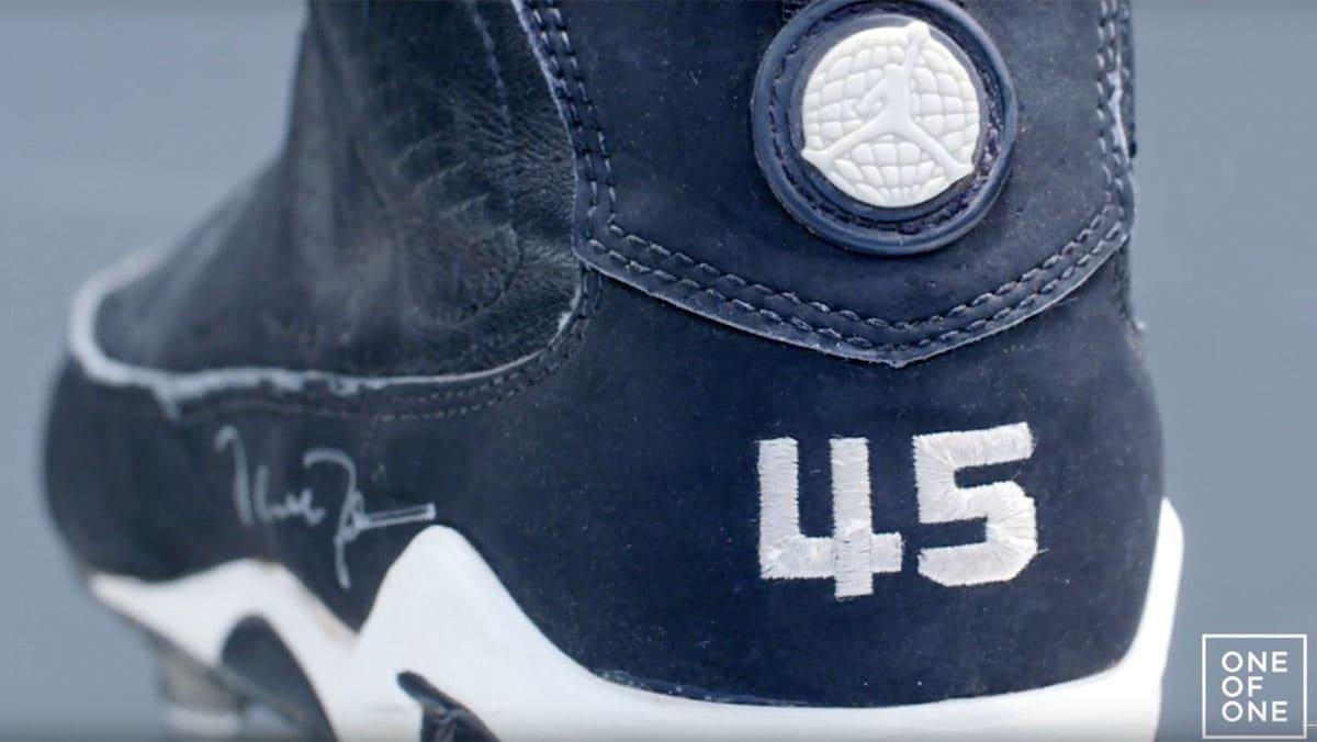 62f9ee661 Michael Jordan Game-Worn Air Jordan 9 IX Baseball Cleats Birmingham Barons