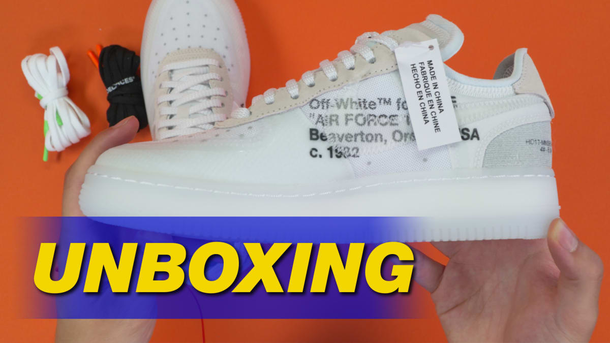 fd7624207726 Off-White x Nike Air Force 1 by Virgil Abloh Unboxing