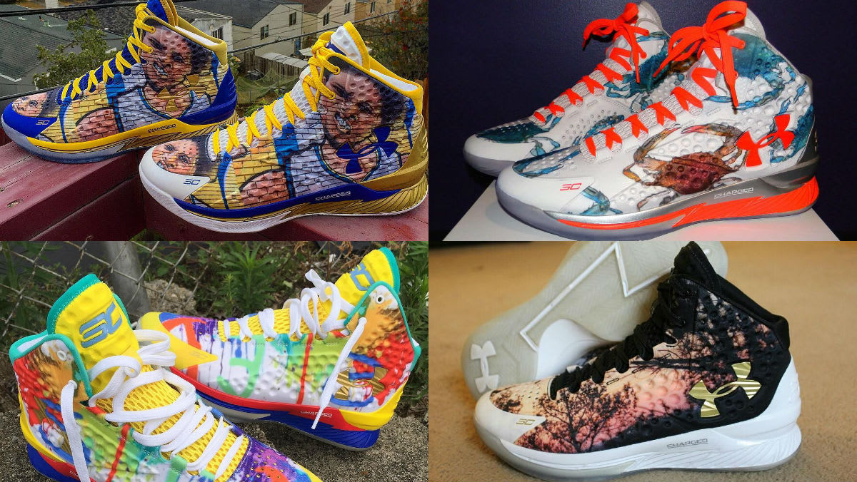 best custom under armour icon curry 1 designs