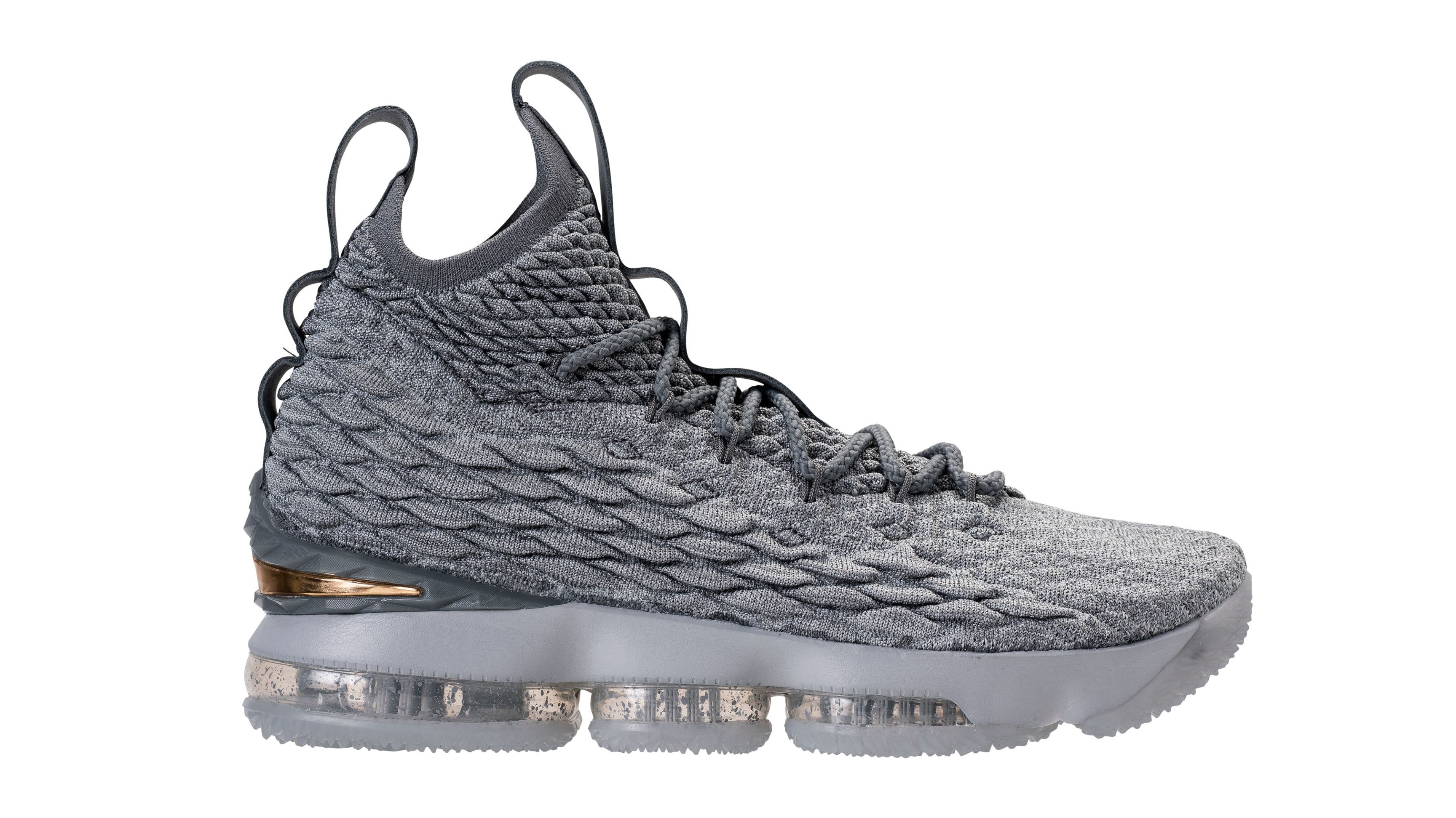 0b781e1060618 Nike LeBron 15 Grey Gold Release Date 897648-005
