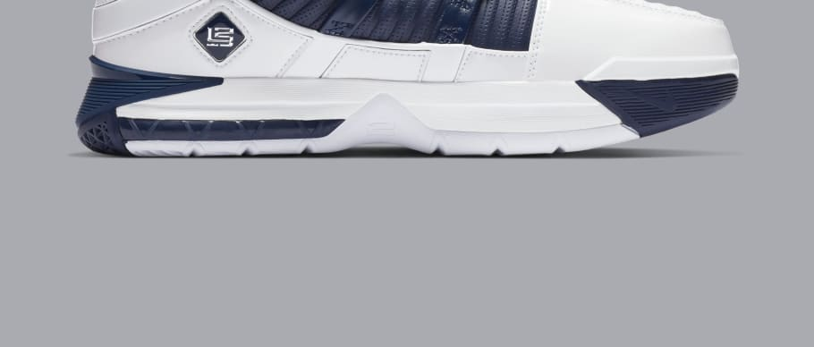 3fea0aaed3f Nike Zoom LeBron 3  White Navy Blue Silver  Release Date