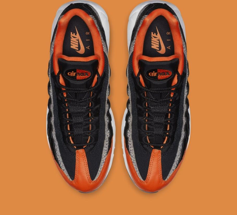 bb306e09f24b Nike Air Max 95  Safari  Black Granite Safety Orange AV7014-002 Release  Date