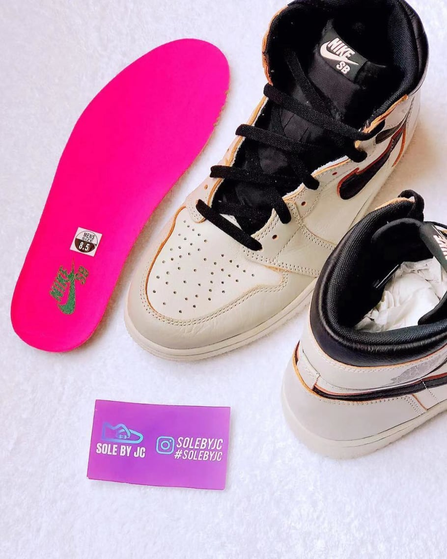 3b20de387 Nike SB x Air Jordan 1 'Light Bone/Crimson Tint-Hyper Pink-Black ...