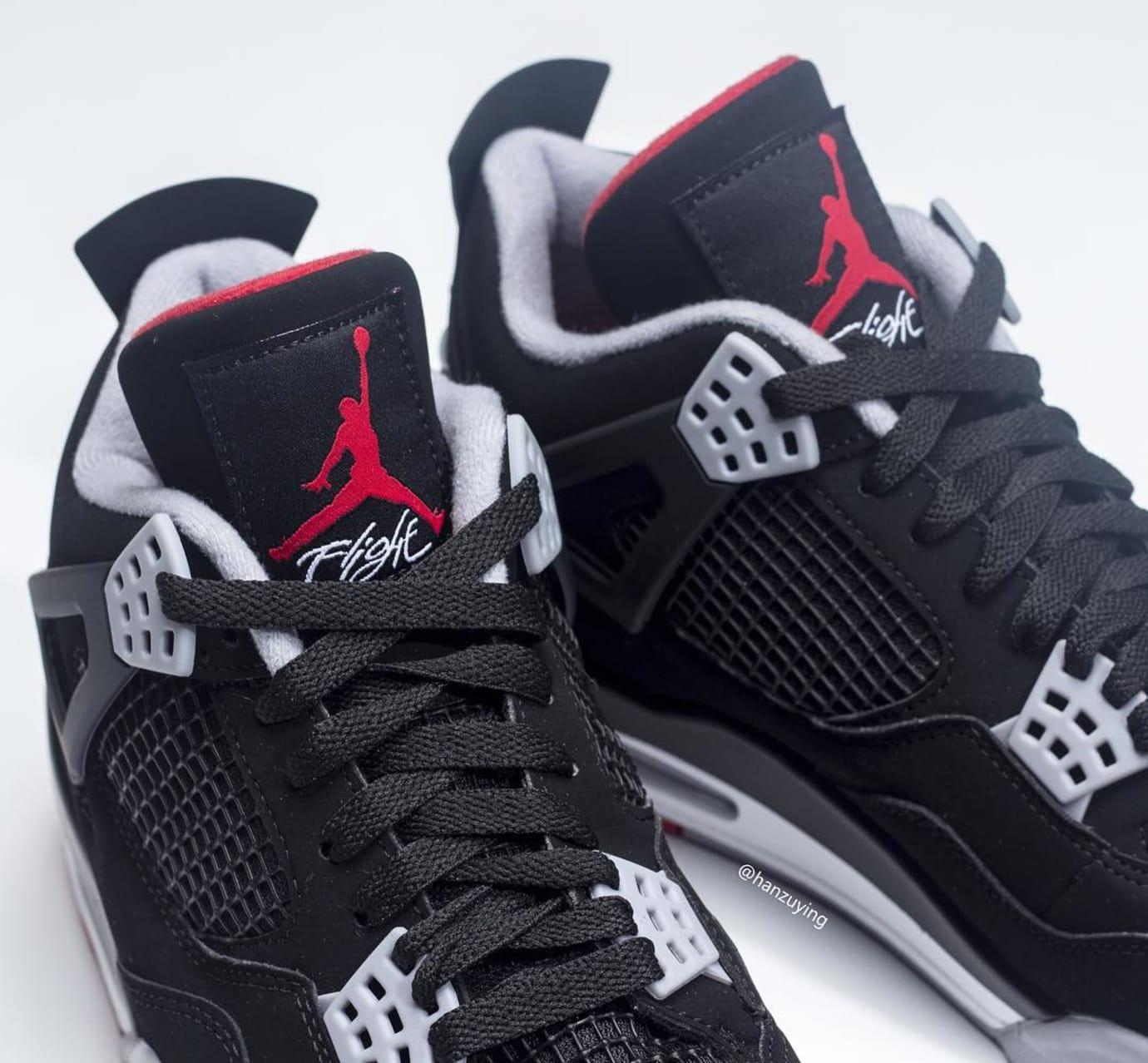 a208beb4f723cc Air Jordan 4 Retro  Black Cement Grey Summit White Fire Red  308497 ...