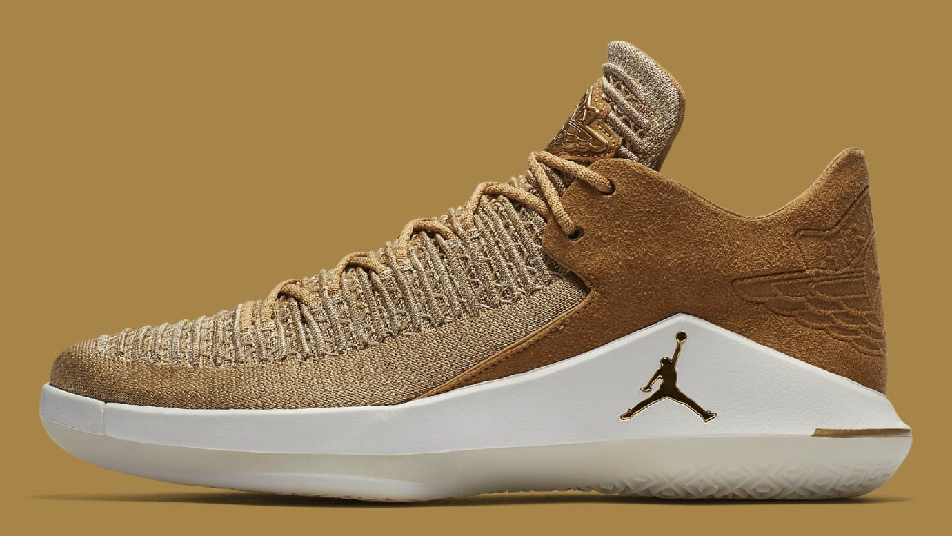 Air Jordan 32 Low Golden Harvest Release Date AA1256-700 Profile