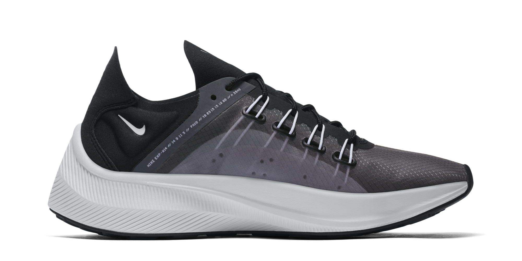 Nike WMNS EXP-X14 'Black/White/Wolf Grey' AO3170-001 (Medial)